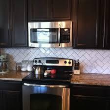 decor u0026 tips charming tile herringbone backsplash for kitchen