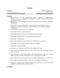 8 years sap accounts u0026 finance resume