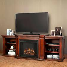 Electric Media Fireplace Real Flame Valmont 76 In Media Console Electric Fireplace In Dark