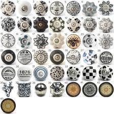 bouton de cuisine vintage ceramic knobs ornamental door knobs with various black
