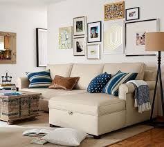 Sectional Sofa With Storage Chaise Cameron Roll Arm Upholstered Sofa With Storage Chaise Sectional