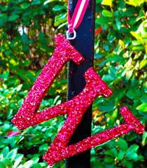 glittered initial ornaments uncommon designs