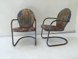 Mid Century Outdoor Chairs Mid Century American Clam Shell Patio Chairs 1950s Set Of 2 For
