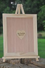 engravable wedding guest book 18x20 custom frame and heart alternative wedding guest
