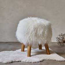 tibetan sheepskin stool chairs benches u0026 stools furniture