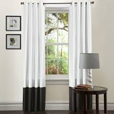 Contemporary Drapes Window Treatments Flower Pattern Contemporary Drapery Ideas For White Bay Window