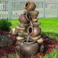 outdoor or indoor pitcher honey pots rock water fountain for