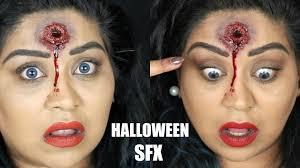 sfx gunshot wound halloween makeup tutorial nishi v youtube