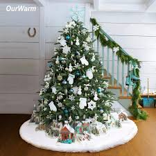 aliexpress buy ourwarm luxury faux fur tree skirt