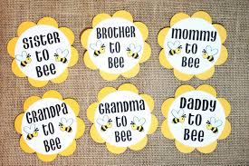 bee theme gender reveal baby shower party pins he or