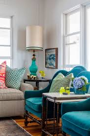 Heather Vaughan Design Beach House Living Room Upholstered - Bright colors living room