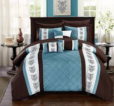 Blue And Brown Bed Sets Brown Bedding Sets For Bedroom Ease Bedding With Style