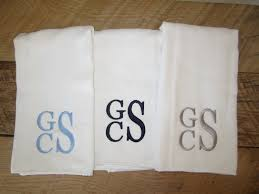 Personalized Kitchen Gifts by Monogrammed Burp Cloth Set Of 3 Stacked Monogram Monogrammed