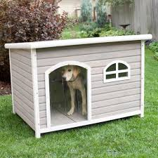 spotty xl insulated flat roof dog house with heater tucker abode