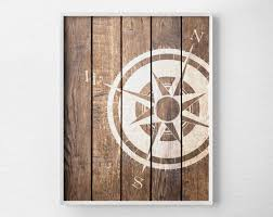 Nautical Decoration by Nautical Compass Compass Print Nautical Decor Rustic