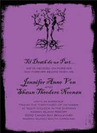 Gothic Halloween Wedding Party Invitation by Halloween Invitations Till Death Do Us Part 26573 This Is The