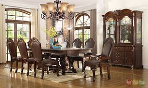 chateau traditional 7 piece formal dining room set pedestal table
