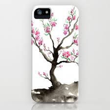 floral iphone 8 tree cherry tree designer