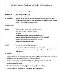 in home care job description resume job