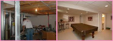 capricious finished basement before and after impressive ideas