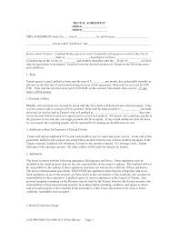 Lease Termination Notice From Landlord by Lease Agreement Form Free Free Landlord Tenant Lease Agreement