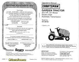 craftsman lawn mower 917 28746 user guide manualsonline com