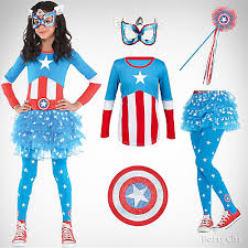 Captain America Halloween Costumes Girls U0027 Captain America Costume Idea Girls U0027 Halloween Costume