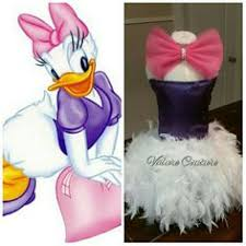 Daisy Duck Halloween Costume Toddler Complete Daisy Duck Tutu Dress Big Bow Feather Tail Tutu