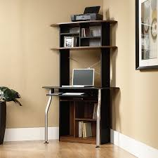 white left corner computer desk with storage shelves castero