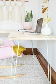 Schreibtisch Einrichtung Transformable Hairpin Leg Desktop Diy A Beautiful Mess Büros