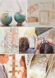travel themed wedding whimsically wishing taking flight vintage travel themed wedding