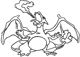 pokemon coloring page 006 charizard coloring pages
