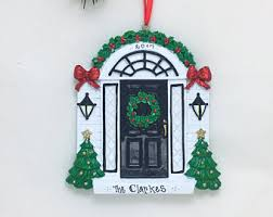 white door personalized ornament new home ornament