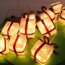 2M 10 LED Christmas Gift Box Party Light String Luminous Xmas