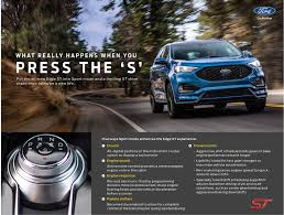 where do you put a st rev matched downshifts put the sport in the 2019 ford edge st