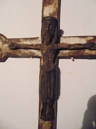 wooden crucifix carved wooden crucifix altar or processional cross romanesque