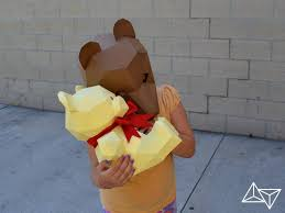 make your own paper bear mask with moving jaw halloween mask