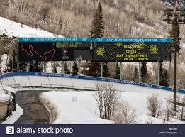 Park City Utah Map Bobsled Scoreboard Sign With Track Map Utah Olympic Park Park