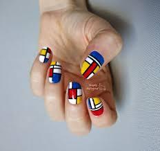 simply nailogical mondrian inspired nail art