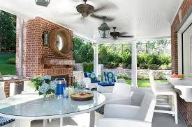 covered patio with fireplace corner patio fireplace design ideas