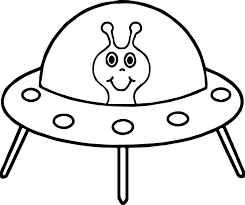 alien spaceship coloring page wecoloringpage