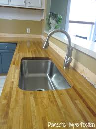Butcher Block Kitchen Countertops My Butcher Block Countertops Two Years Later Domestic Imperfection