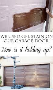 Overhead Door Parts List by Diy Gel Stain Garage Door Update Garage Door Update Garage