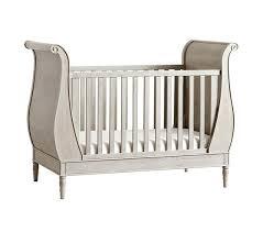 Sleigh Bed Crib Quinn Sleigh Crib Pottery Barn