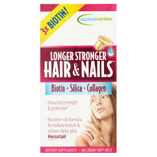 longer stronger hair u0026 nails supplement 60 ct walmart com
