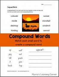 compound words worksheet worksheets literacy and phonics