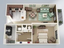 50 plans en 3d d appartement avec 1 chambres plan gratuit 3d et