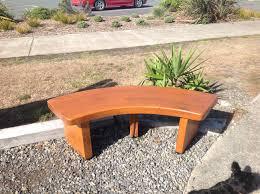 outdoor circular wooden bench outdoor seating curved garden