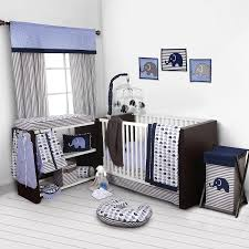 Crib Bedding Set With Bumper Bacati Elephants Blue Grey 10 Pc Crib Set Without Bumper Pad