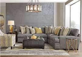 Rooms To Go Sofas And Loveseats by Picture Of Cindy Crawford Home Palm Springs Gray 3 Pc Sectional